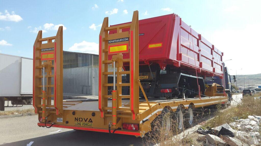 جديدة العربات نصف المقطورة عربة مقطورة مسطحة منخفضة NOVA 2 to 4 axle Lowbed Trailers