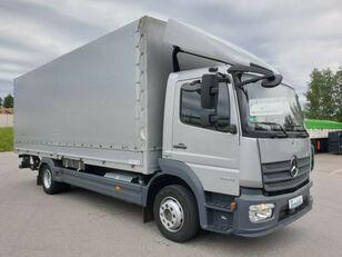 camion bâché MERCEDES-BENZ 1224 L Atego Pritsche LBW - silber-neutral  1.H
