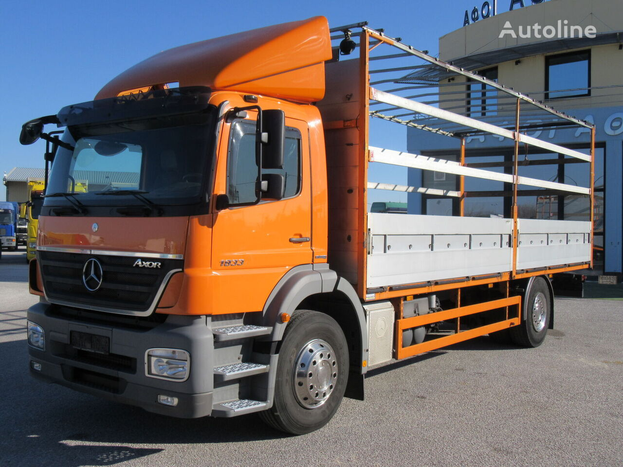 camion bâché MERCEDES-BENZ 1833 L AXOR /EURO 5