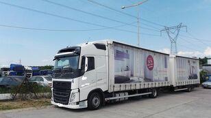 camion bâché VOLVO fh 420 EURO 6 + remorque bâchée