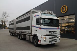 camion bétaillère VOLVO FH12.480 CHICKEN TRANSPORTER + remorque bétaillère