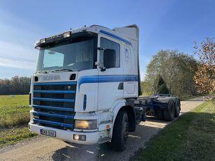 camion forestier SCANIA 144 460 HP 6x4 Retarder