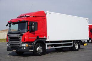 camion fourgon SCANIA P 250  / E 6 / KONTENER / 17 PALET / ŁAD. 9166 KG / MAŁY PRZEBIE