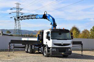 camion plateau RENAULT Premium 410 DXI Pritsche 7,00m+COPMA 400.6/FUNK