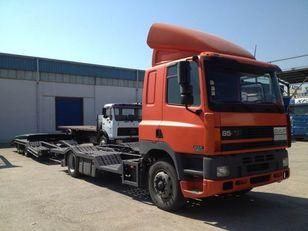 camion porte-voitures DAF CF85.380 ATI EURO2 TRUCK / TRACTOR TRANSPORT + TANDEM + remorque porte-voitures