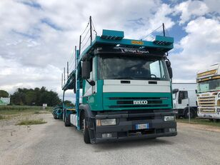 camion porte-voitures IVECO EUROTECH  bisarca veicoli + biga Rolfo