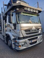 camion porte-voitures IVECO Stralis 400 + remorque porte-voitures