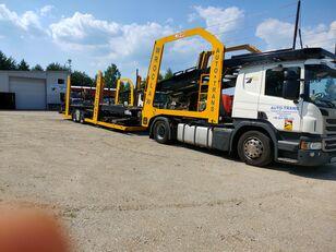 camion porte-voitures SCANIA Eurolohr + remorque porte-voitures