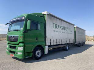 camion rideaux coulissants MAN TGX 18.440 + remorque rideaux coulissants