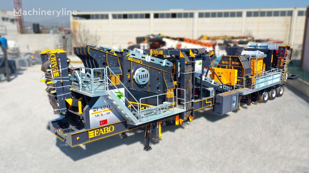 concasseur FABO MCK-60 MOBILE CRUSHING & SCREENING PLANT FOR HARDSTONE neuf