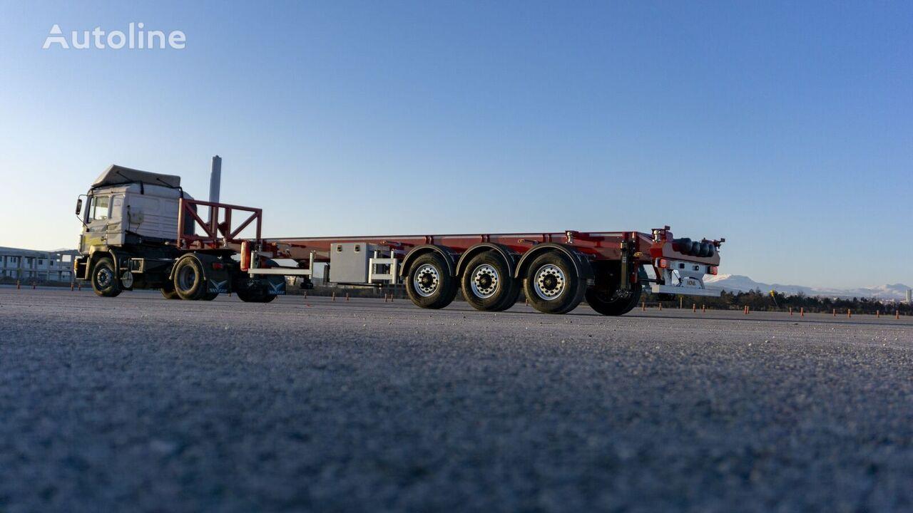 semi-remorque porte-conteneur NOVA Tipping Container Trailer 20, 30, 40 Ft neuve