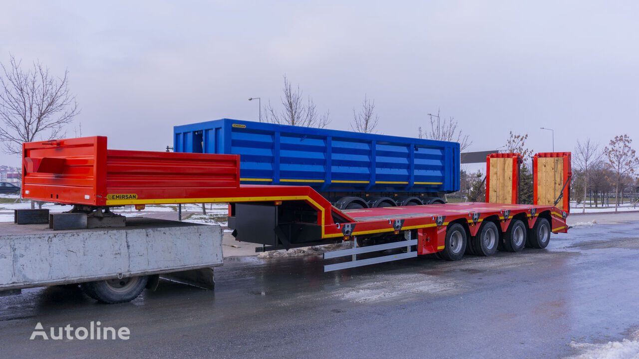 semi-remorque porte-engins EMIRSAN Lowbed Trailer with Steering Axles 2021 Direct from facto neuf